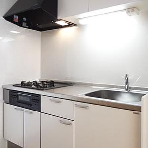 システムキッチン&フード付換気扇