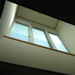 LDは、天窓からの採光も