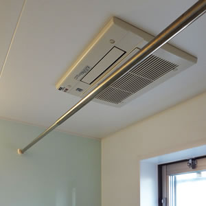 バスルーム|浴室換気暖房乾燥機を設置