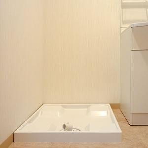 洗濯機を置いても十分な広さを確保しています